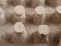 Stools. Roman Bathhouse ruins, Bet Shean, Israel Royalty Free Stock Image