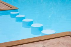 Stools in poolside Royalty Free Stock Photo