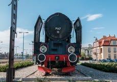 Stoom oude trein Stock Foto