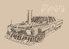 Stoom punkauto Royalty-vrije Stock Afbeelding