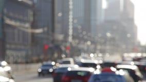 Stoom van auto's stock video