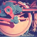 Stoom voortbewegingswiel Stock Foto