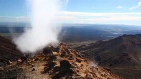 Stoomactiviteit in Nieuw Zeeland stock videobeelden