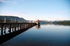 Stoomboot op Ullswater Stock Foto's