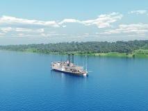 Stoomboot van de Mississippi Stock Foto