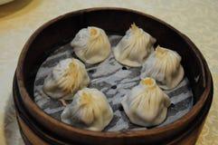 Stoomden de Chinese de soepbollen van Shanghai in Lu BO Lang, Yu-Yuans, Shanghai, China Stock Foto