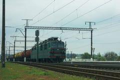 Stoomlocomotief, het UK, de spoorweg stock foto's