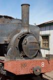 Stoomlocomotief op de Humberstone-Salpeterwerk Royalty-vrije Stock Fotografie