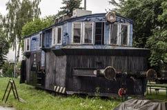 Stoomlocomotief, spoorweg royalty-vrije stock fotografie