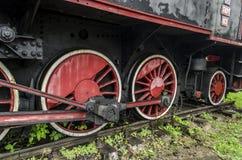 Stoomlocomotief, spoorweg stock fotografie