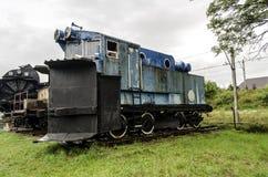 Stoomlocomotief, spoorweg stock afbeelding