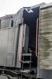 Stoomlocomotief, spoorweg royalty-vrije stock afbeelding