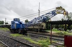 Stoomlocomotief, spoorweg royalty-vrije stock foto