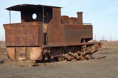 Stoommotor op de Humberstone-Salpeterwerk Stock Foto's