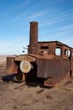 Stoommotor op de Humberstone-Salpeterwerk Royalty-vrije Stock Foto's