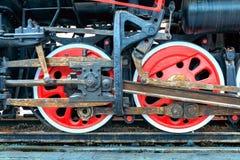 Stoomtrein, wielen Royalty-vrije Stock Afbeeldingen
