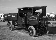 Stoomvrachtwagen bij de Stoommarkt van Dorset Stock Fotografie