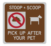 Stoop & scoop sign Royalty Free Stock Photo