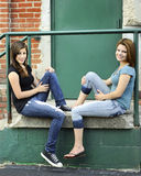 Stoop Teens Stock Image