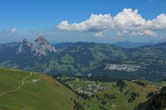 Stoos, village and holiday resort in the Alps Royalty Free Stock Photography