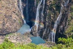 Stoot watervallen in Zuidelijk India aan stock fotografie