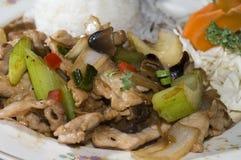 Stootkussen dat Thais voedsel khing Stock Fotografie