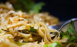Stootkussen Thai met Koriander Stock Foto's