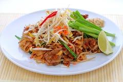 Stootkussen Thai met rundvlees Royalty-vrije Stock Afbeeldingen