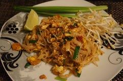 Stootkussen Thaise garnalen, beroemd Thais voedsel stock afbeeldingen