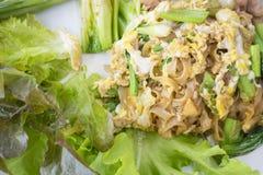 Stootkussen Thaise, gebraden noedel met ei Stock Afbeelding
