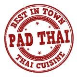 Stootkussen Thaise teken of zegel stock illustratie