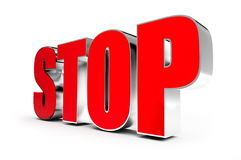 Stop. On a white background Stock Photography