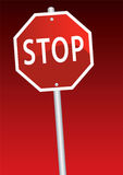 Stop. Vector illustration of a stop sign Royalty Free Stock Image