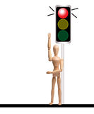 Stop. Traffic signal - red light blinking Royalty Free Stock Images