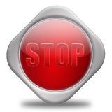 STOP!. Stress Concept,3D&Computer generated Stock Photo