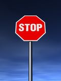 STOP. The STOP sign on the clean sunny day Royalty Free Stock Images