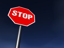 STOP. The STOP sign on the clean sunny day Royalty Free Stock Image