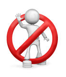Stop. Five my fingers and incomprehensible red circle Royalty Free Stock Images