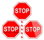 Stop. Road sign isolate on white Stock Photography