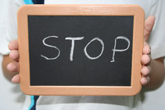 Stop. Attention to the sign Stock Images