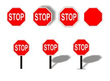 Stop. Traffic signs (rasterized Stock Images