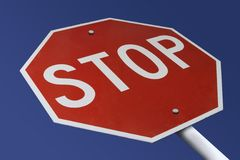 Stop. Sign Royalty Free Stock Photo