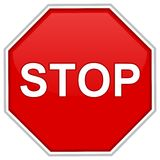 Stop. Sign - computer generated image Stock Images