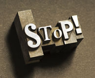 Stop! Royalty Free Stock Image