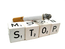Stop !. You better stop with smoking stock images
