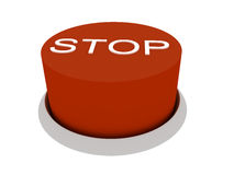 Stop. 3d image of button Stop. White background Vector Illustration