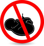 Stop abortion sign Stock Images