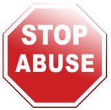 Stop abuse vector illustration
