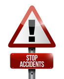 Stop accidents warning illustration design Royalty Free Stock Image
