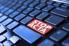 STOP ACTA Royalty Free Stock Images